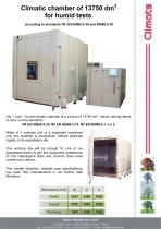 Climatic chamber of 13750 l for humid tests