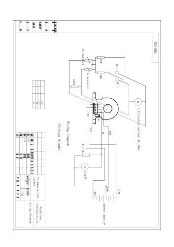 DC Leakage current sensor \ SCD Series \ Wiring Diagram ... on