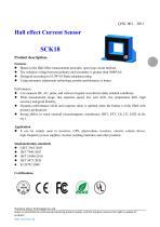 Open-loop Hall effect current sensor 30 * 40 mm, 300 - 2000 A | SCK18 series