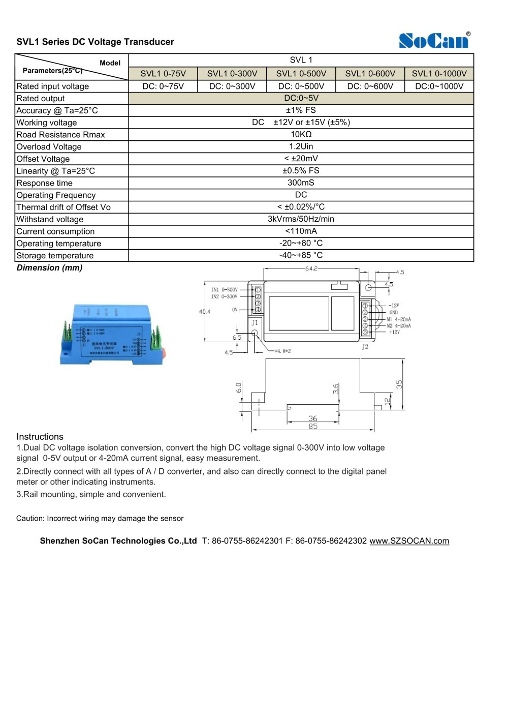 Current Transducer Wire Diagram Wiring Library Svl1 Series Dc Voltage 1 Pages