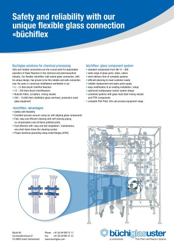 Safety and reliability with our unique flexible glass connection «büchiflex