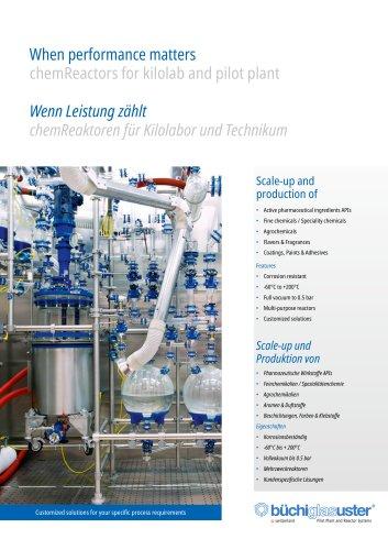 When performance matters «chemReactors» for kilolab and pilot plant