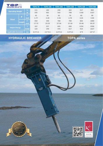 "TOPA Hydraulic Breaker ""TOPA series"""