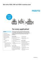 Ball valves VZBE, VZBF nd VZBD in stainless steel - For every application!