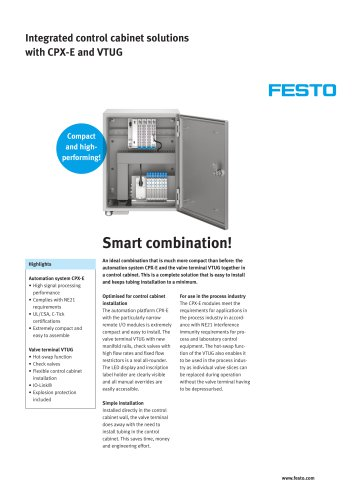 Integrated control cabinet solutions with CPX-E and VTUG - smart combination!