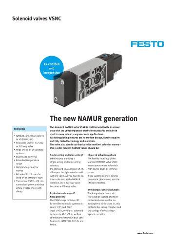 Standard NAMUR valve VSNC - The new NAMUR generation