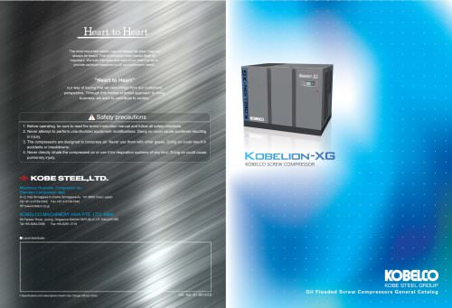 kobelion xg - Kobe Steel, Ltd  (Std Compressor Div) - PDF