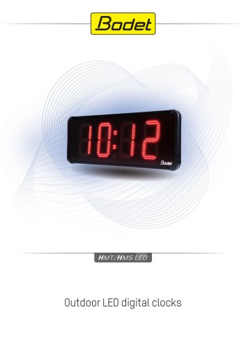 HMT HMS LED - Outdoor LED Clock