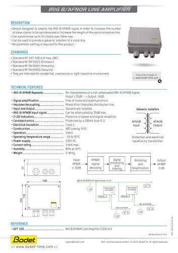 Irig b/afnor line amplifier