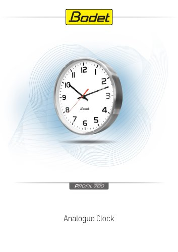 Profil 700 - Metal analogue clocks
