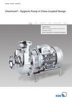 Vitachrom®  – Hygienic Pump in Close-coupled Design