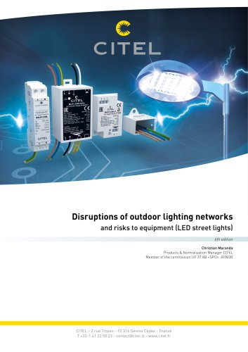 Disruptions of outdoor lighting networks