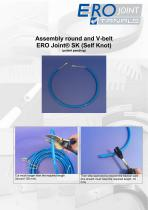 Assembly round and V-belt ERO Joint® SK (Self Knot)