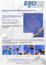 Round and V-belt ERO Joint® SK (Self Knot)