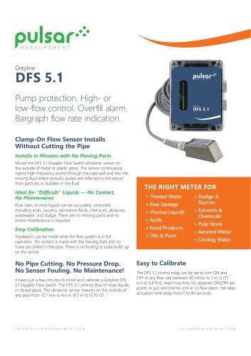 DFS 5.1 Doppler Flow Switch