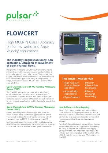 FlowCERT Sales Brochure