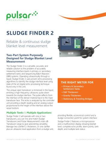 Sludge Finder 2 Sales Brochure