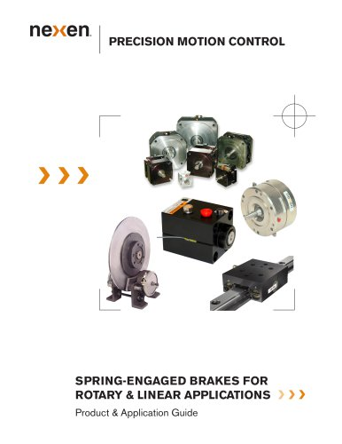 SPRING-ENGAGED BRAKES FOR ROTARY & LINEAR APPLICATIONS