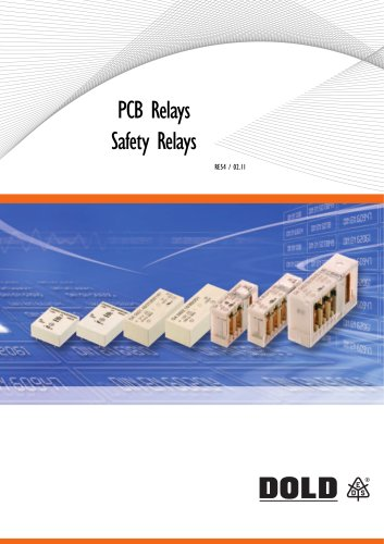 Catalog PCB relays safety relays
