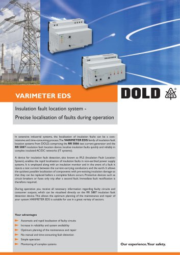 Flyer Insulation fault location system RR 5886 / RR 5887
