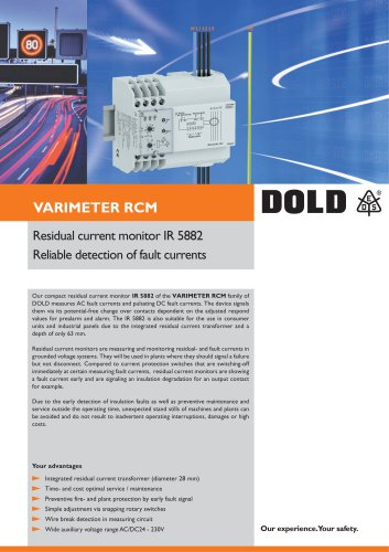 Flyer Residual current monitor IR 5882
