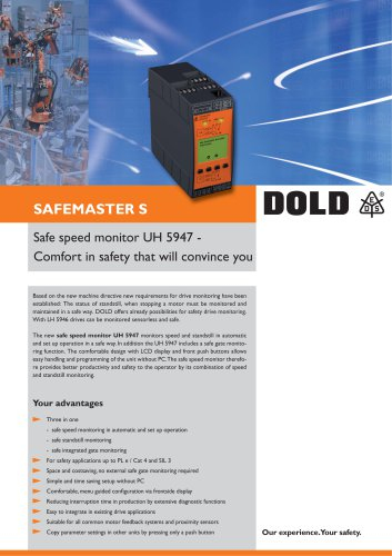 Flyer safe speed monitor UH 5947