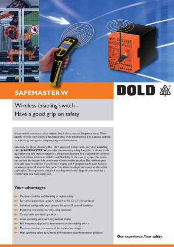 Flyer SAFEMASTER W enabling switch