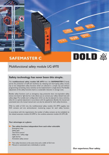 Flyer Safety module UG 6970