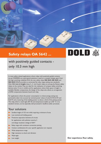 Flyer safety relays OA-series