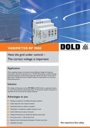 Flyer Voltage and Frequency Monitor RP 9800