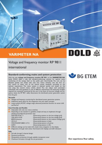 Flyer Voltage and Frequency Monitor RP9811