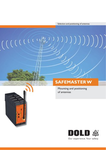 SAFEMASTER W Mounting and positioning of antennas