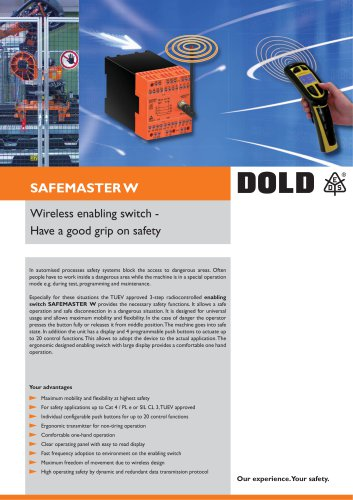 Wireless enabling switch SAFEMASTER W