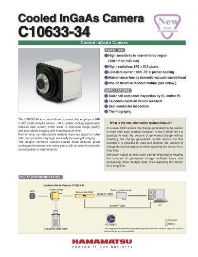 Cooled InGaAs Camera C10633-34