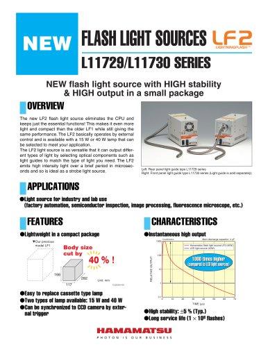 FLASH LIGHT SOURCES L11729/L11730 SERIES