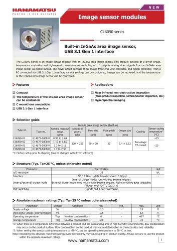Image sensor modules C16090 series