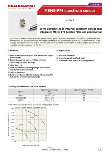 MEMS-FPI spectrum sensor C14273