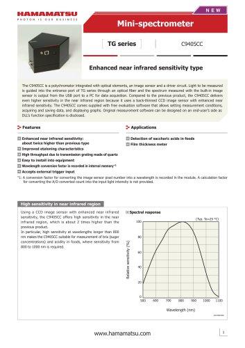 Mini-spectrometer TG series C9405CC