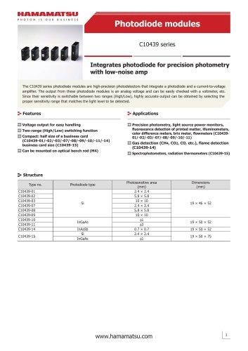 Photodiode modules C10439 series