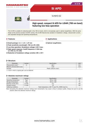 Si APD S14643-02