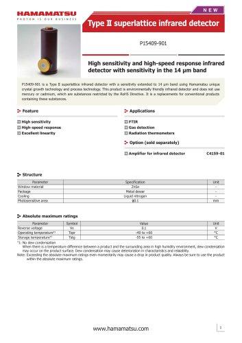 Type II superlattice infrared detector P15409-901