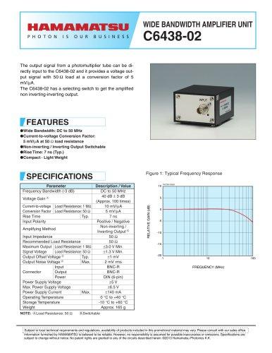 WIDE BANDWIDTH AMPLIFIER UNIT C6438-02