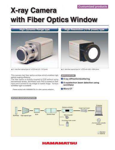 X-ray Camera with Fiber Optics Window