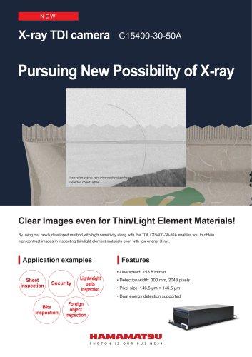 X-ray TDI camera C15400-30-50A
