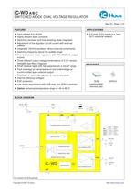 iC-WD    Switched-Mode Dual 5 V Regulator for 8 V to 36 V