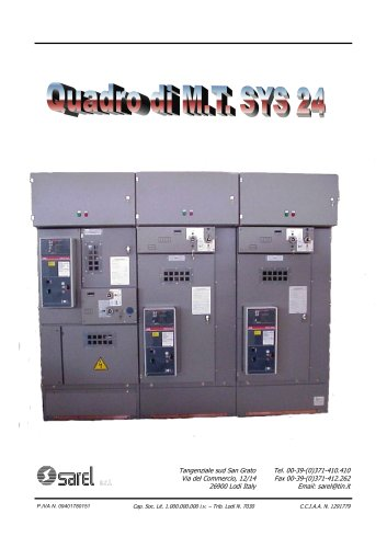 switchboards SYS-24 air insulated 12-24KV