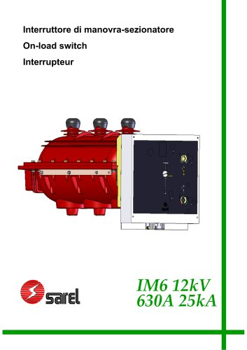 switches IM6 SF6 insulated 12KV 210 mm