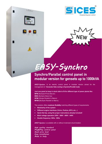 Easy Synchro Control panel