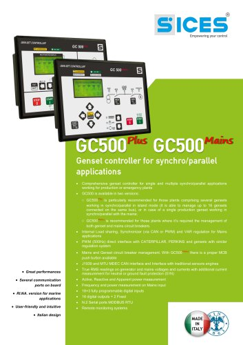 GC500 - Synchro/Parallel genset controller