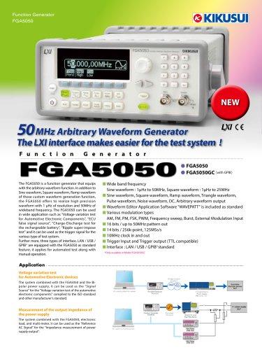 FGA5050 50MHz Function Generator